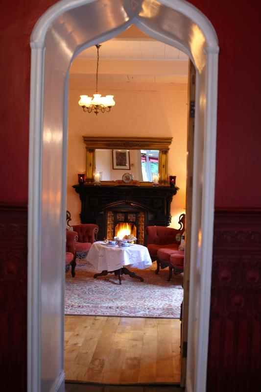 Afternoon tea in front of open turf fire, what is more relaxing while away with your loved ones