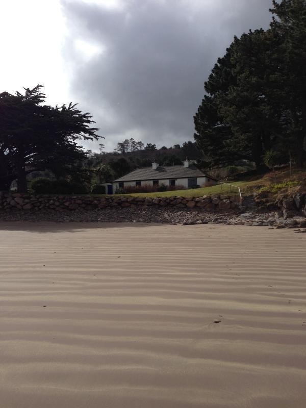Vista do chalé da praia