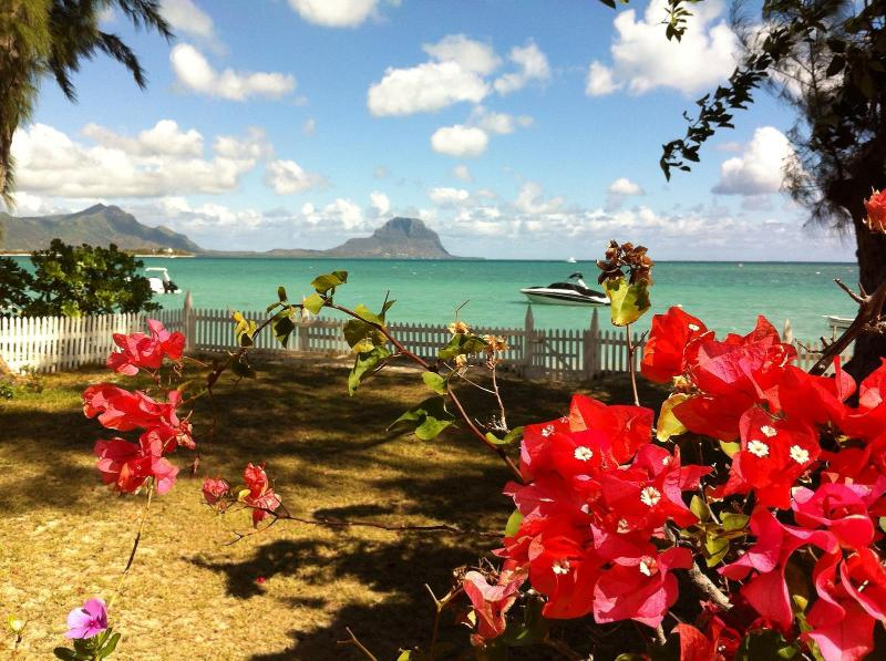 From your veranda, enjoy the view of the ocean and Le Morne mountain
