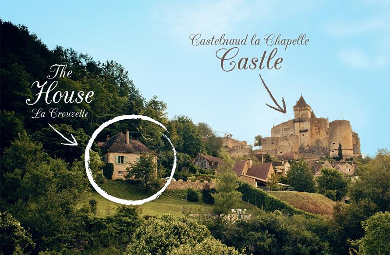 La Crouzette - a house with majestic views of the historic castle and surrounding valley.