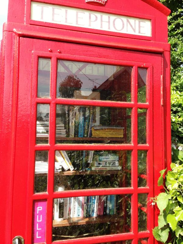 Our village phone box has become a book exchange