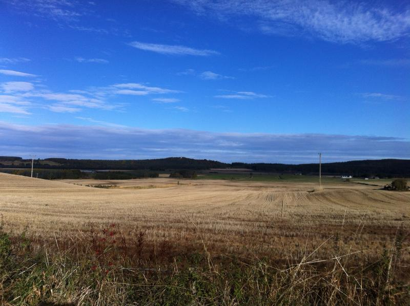 The Bothy's stunning view of the Mosstowie Valley