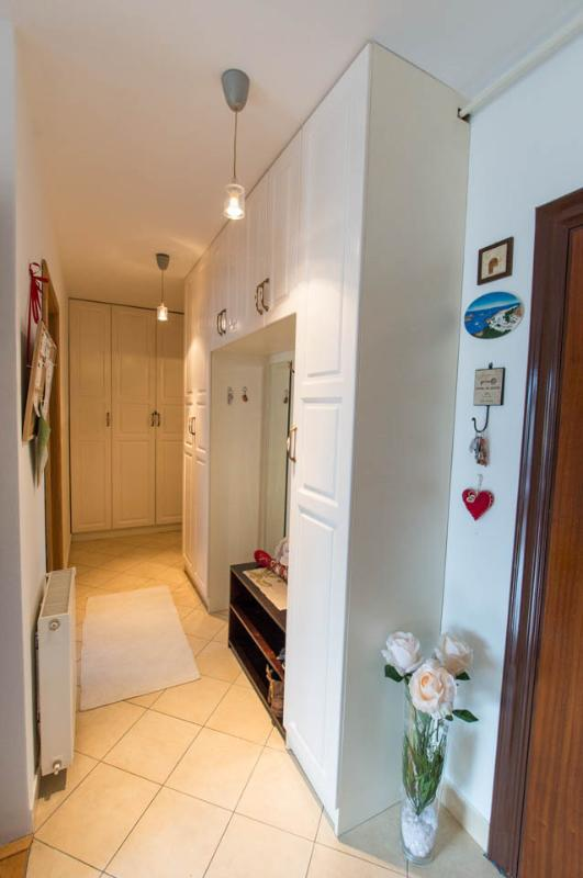 small hall, the entrance to the bedroom and bathroom..