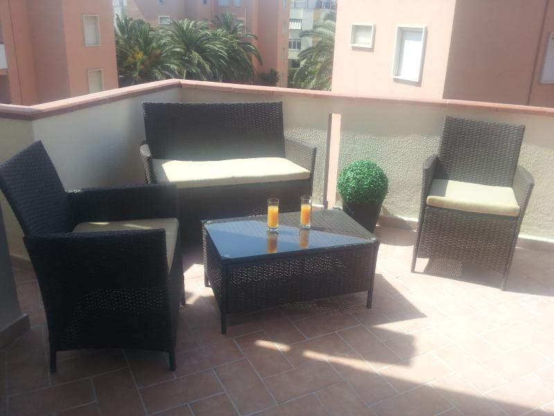 Sunny Balcony - with patio furniture and extra living space