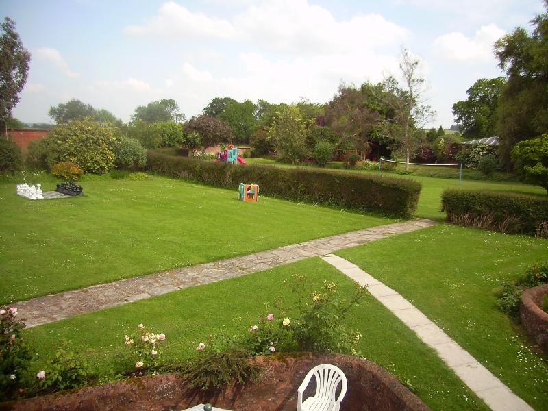 View over garden from Redfields lounge.