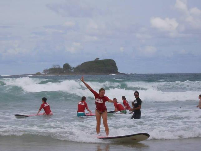 Learn to surf at Mudjimba Surf School