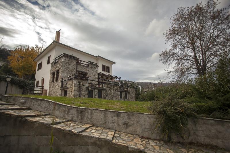 front side of villa