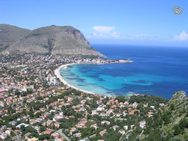 Mondello from Monte Pellegrino ( Pellegrino's Mount)