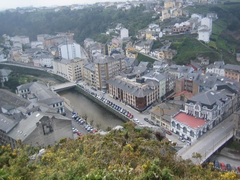 View from one of the viewpoints of Luarca
