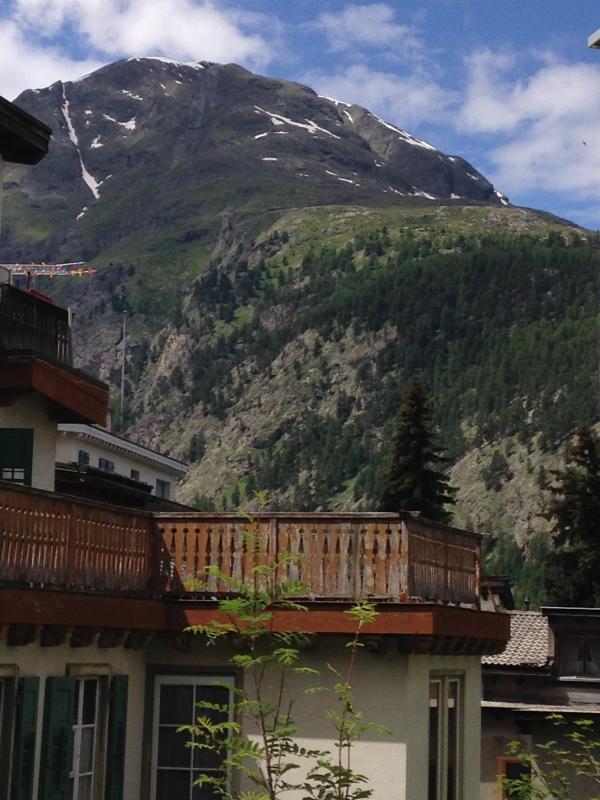 Bergsicht vom Garten - view from the garden