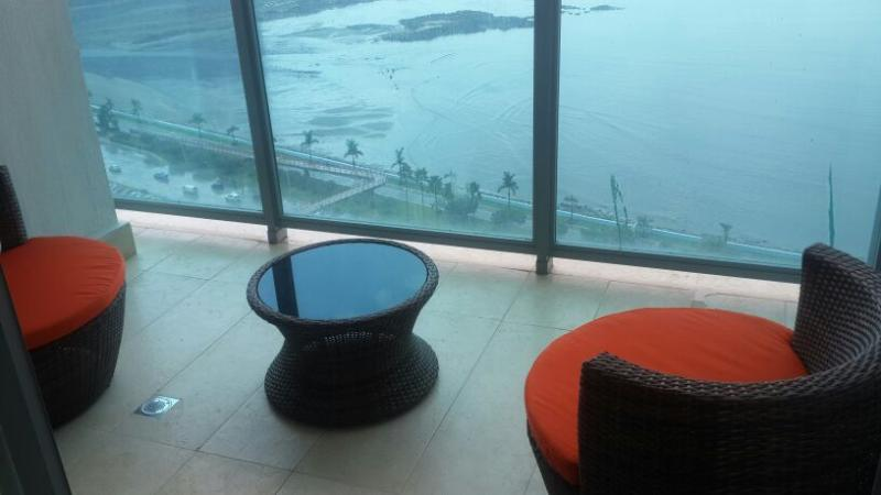Enjoy views of the Bay of Panama and the Canal