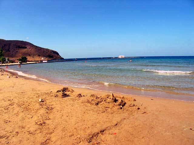 Nearest beach of Georgioupolis, one of the best beaches in Crete