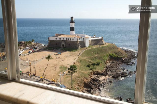 The Iconic Farol da Barra (lighthouse) and fort built in 1696