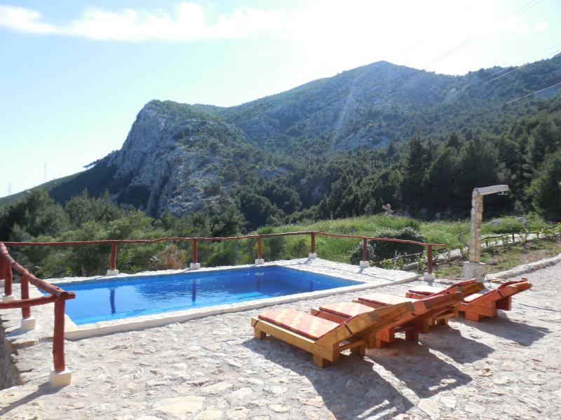 Swimming pool - view of Mt. Kozjak