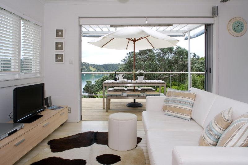 Dining lounge looking out to deck