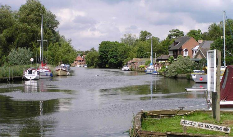 General view showing a typical stretch of the Norfolk Broads