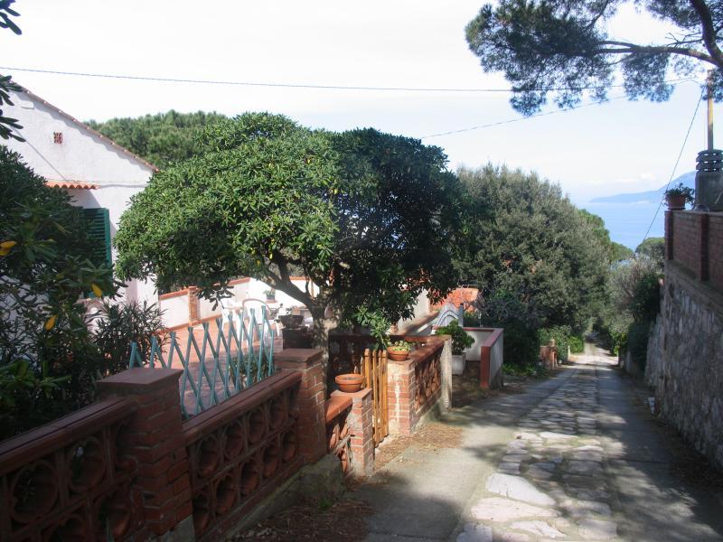 private alley and access to te beach of La padulella