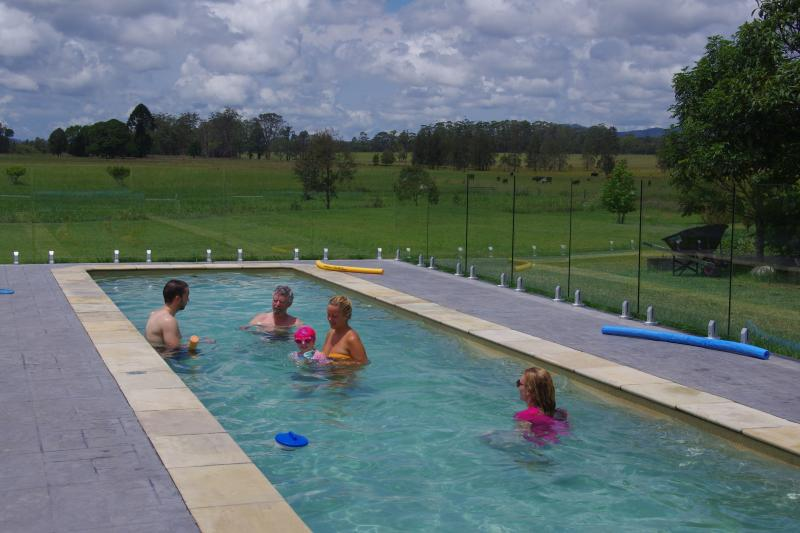 Fun for all the family in the 15m solar-heated pool.