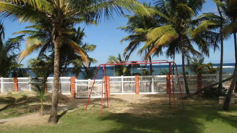 Play area and beach access
