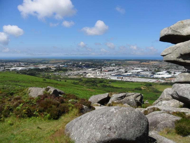 Beautiful view from Carn Brea.