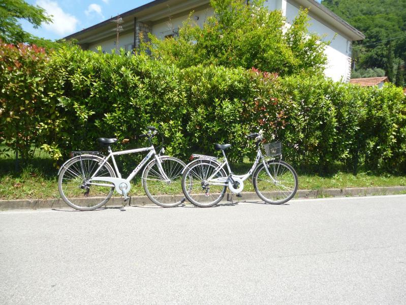 le bici a disposizione degli ospiti