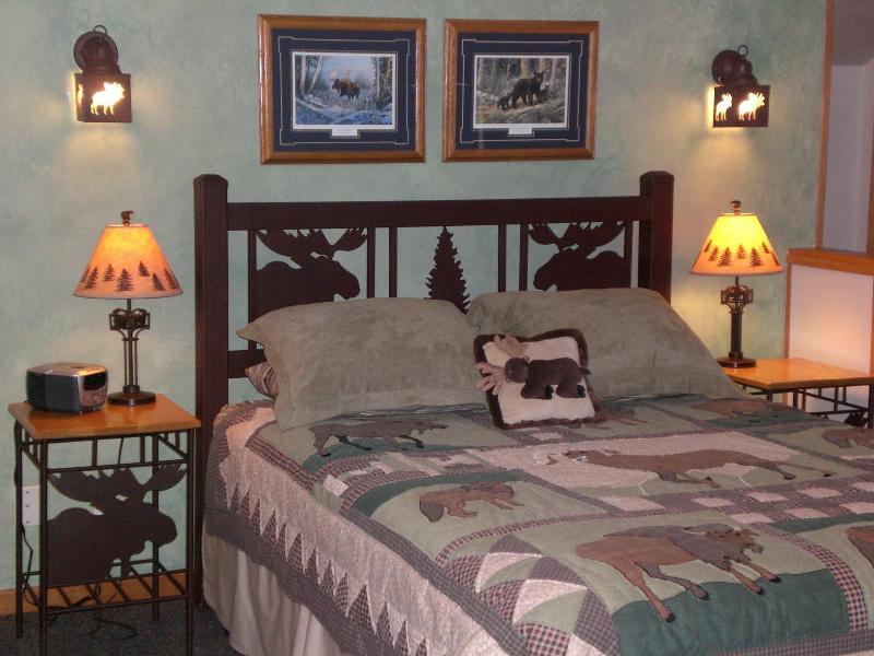 zona de dormitorio, cama de matrimonio