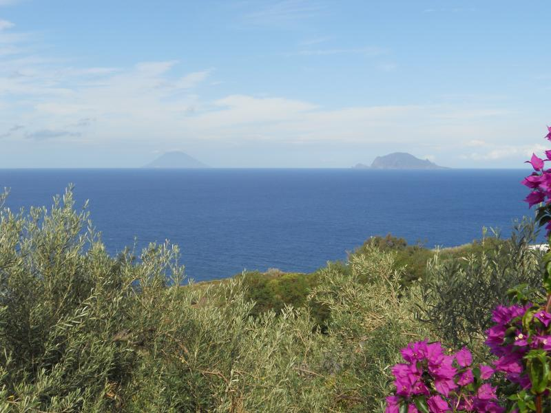 View of Panarea & Stromboli from 3rd terrace