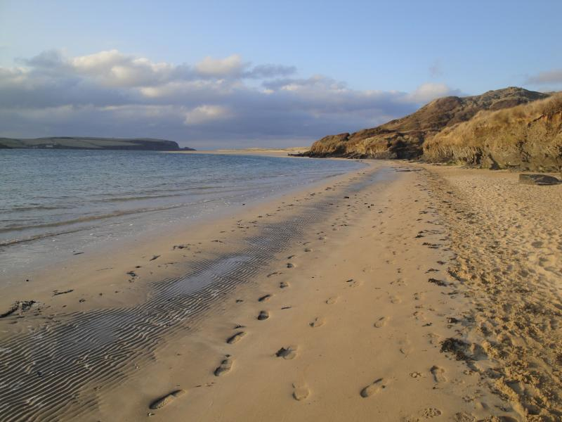 The beach at Rock, leading round to Daymer Bay. Great for kids & great for dogs all year round.