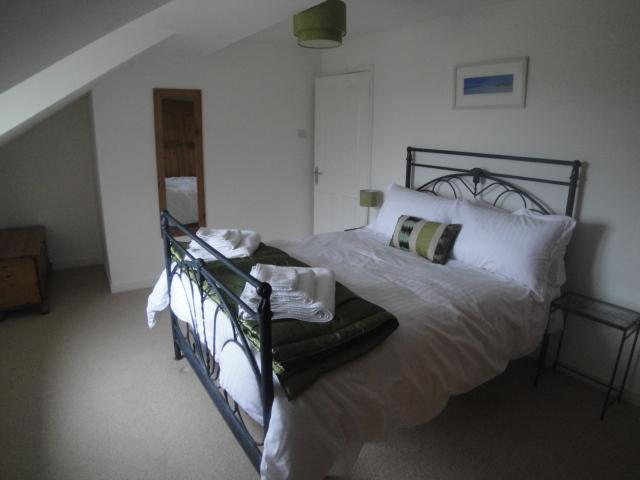 Master Bedroom with lovely countryside views across Treglyn - 1 x double bed