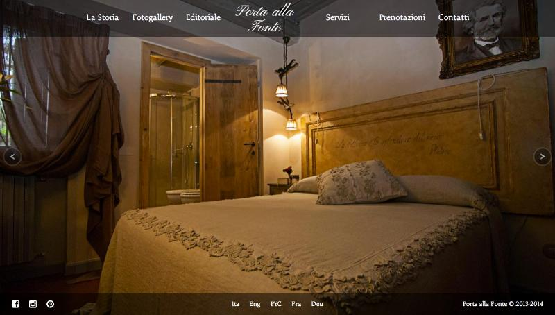 The refined bedroom ' Giuseppe Verdi ' with private bathroom.