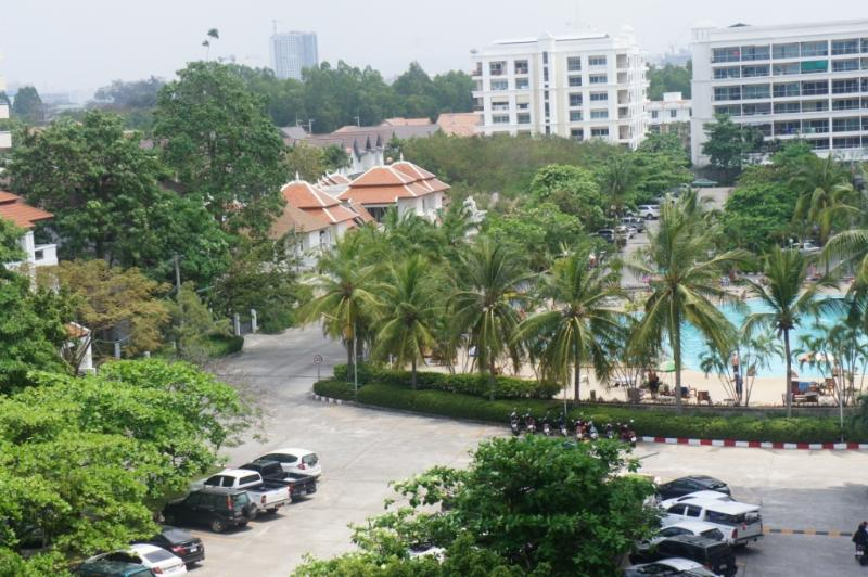 A view of the huge Swimming Pool, from the Living Area Balcony