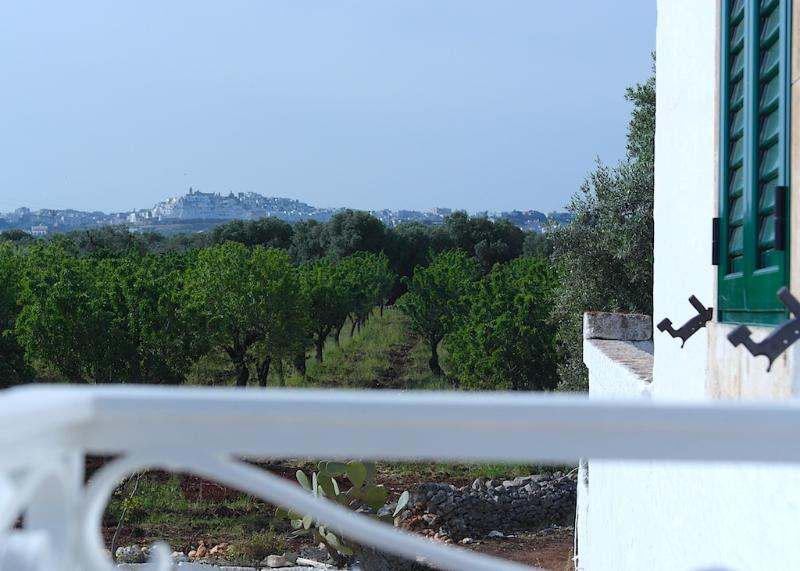 Ostuni, the 'White City' viewed from the balcony. Beautiful views wherever you look.