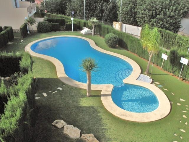 The pool from the king sized bedroom terrace