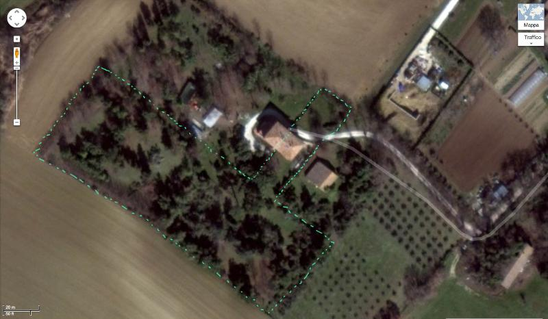 The house from Google map