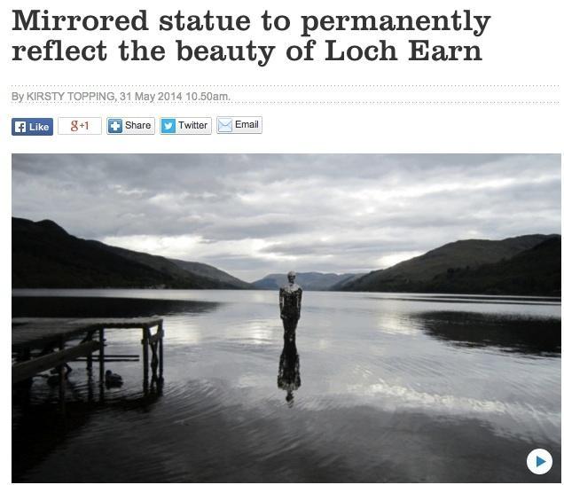 Lochearn mirrored statue