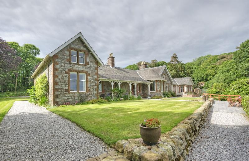 View of Orroland Lodge, facing breathtaking sea views - relax and unwind