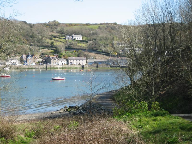 The picturesque village of Lower Fishguard - a short stroll away
