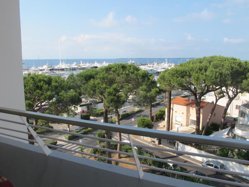 View from the terrace Port de Golfe Juan, Ile Sainte Marguerite