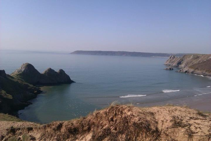 View of Three Cliffs Bay (10 mins walk from chalet)