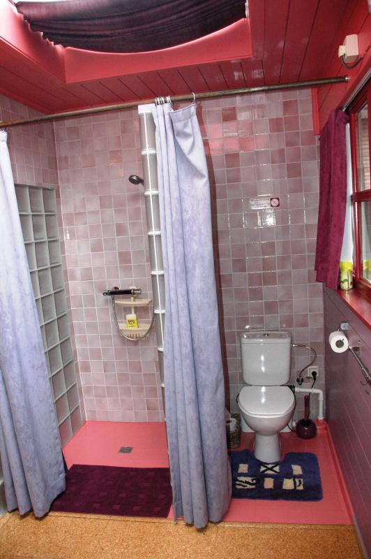 own private shower and toilet