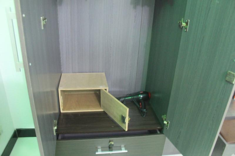 Safety box with haire dryer