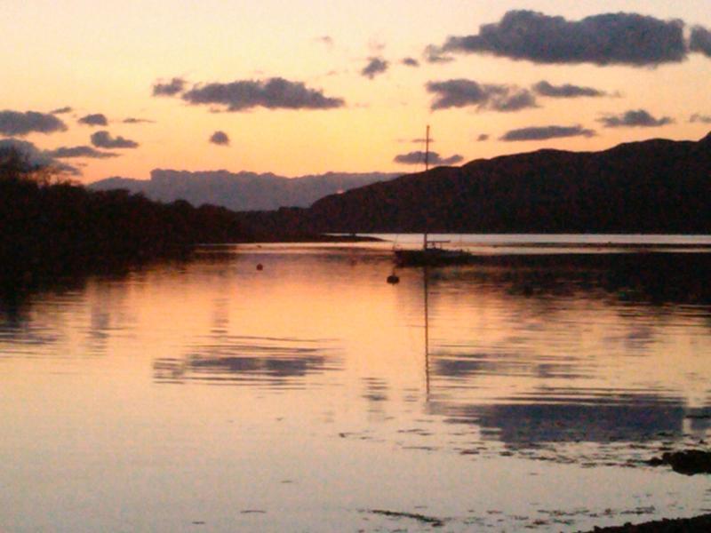 Sunset on Loch Melfort.