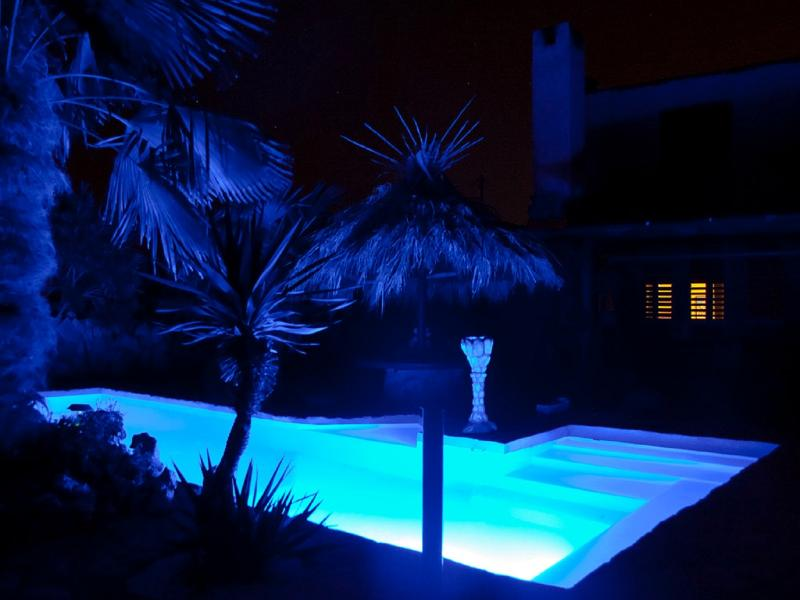 beautiful swimming pool for a night swim