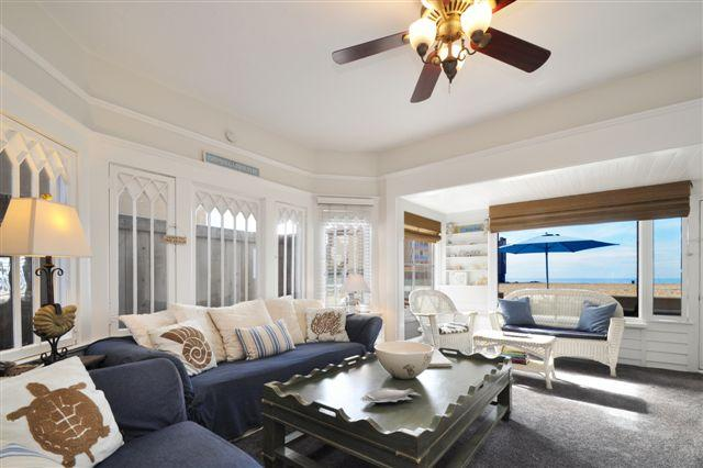 Living room overlooking the Strand