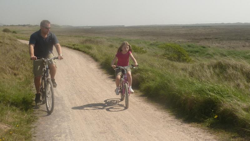 Cycling along The Millennium Coastal Park
