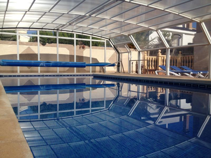 Swimming Pool, Cover removed in Summer