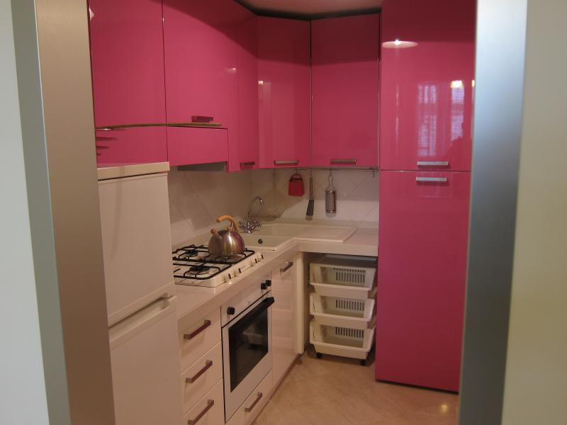 Pink Kitchen in Holidays House Casa Amoruso!
