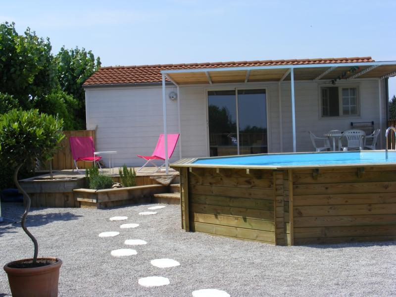 chalet de charme à la campagne avec piscine privée, holiday rental in Paraza