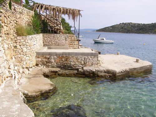 Small beach in front of house, quite summer vacation in Croatia