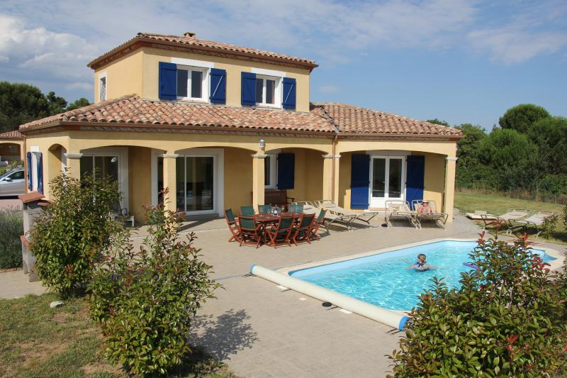 Maison Elise, showing pool terrace and private HEATED pool